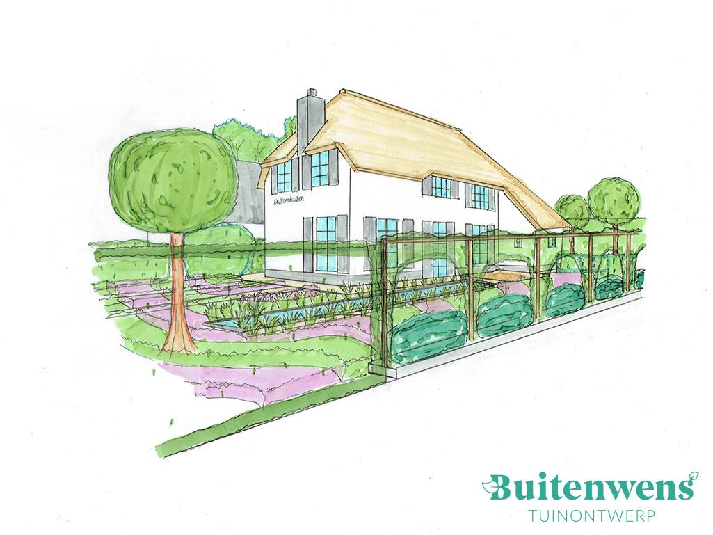 Buitenwens Tuinontwerp Heemskerk 3d Impressie