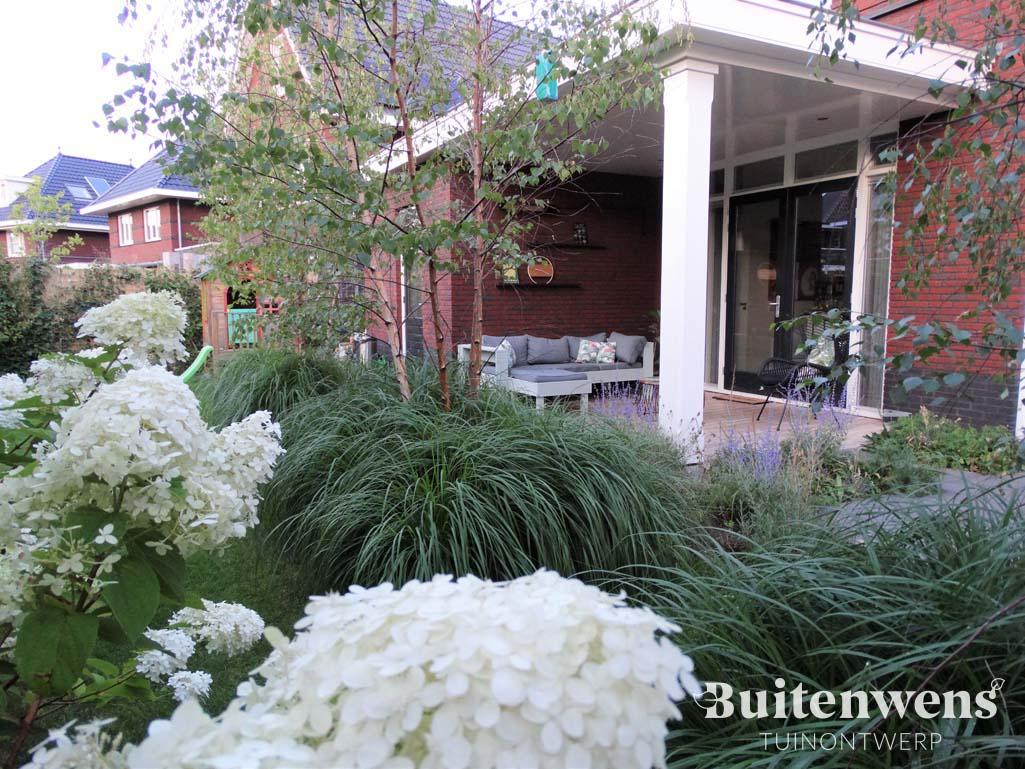 Van witte hortensia naar veranda Buitenwens Tuinontwerp Heemskerk