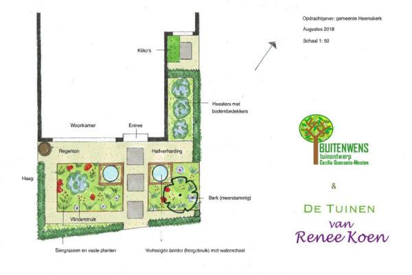 Buitenwens-Tuinontwerp-Heemskerk-Metamorfose-Versteende-Voortuin-Tekening